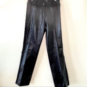 VINTAGE Danier Leather Pants with Side Lace 4